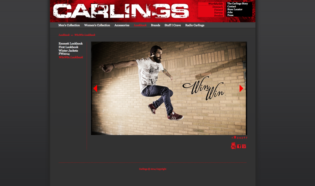 Skärmdump från deras hemsida